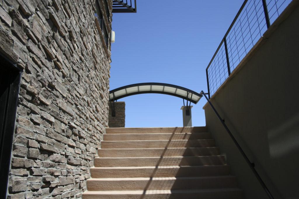 Prada Stairs From Window Well