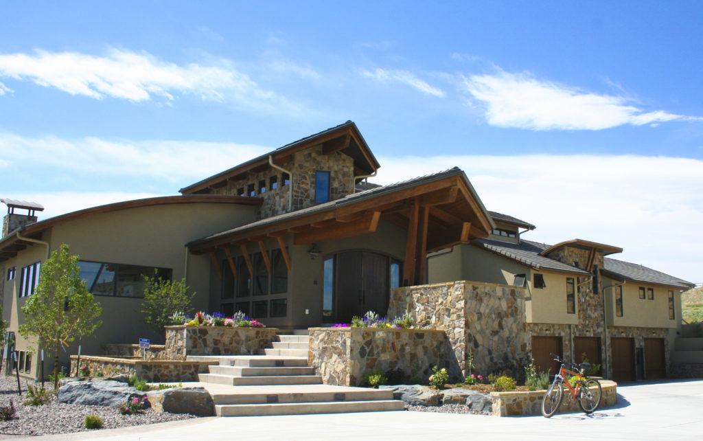 Hillside Exterior Entry